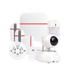guard 3، جهاز إنذار بشريحة يمكنه الاتصال ب 3 أشخاص، يمكن اضافه حساسات انذار للأبواب والنوافذ
